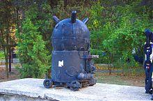 Глибинна міна (експонат севастопольського музею Чорноморського флоту Росії)