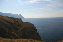 Вид з гори Кастрон на мис Айя в Балаклаві