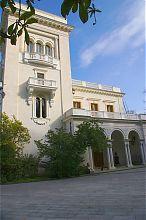 Северо-западный центральный фасад Ливадийского дворца