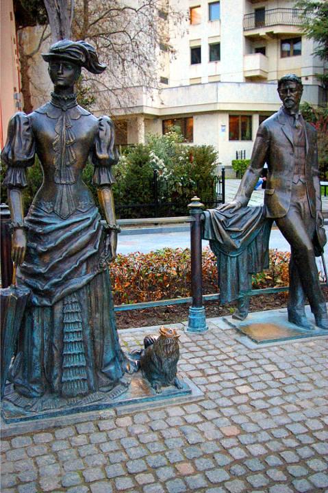 Картинки по запросу памятник дама с собачкой в ялте