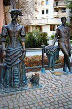 Пам'ятник Дамі з собачкою і їх творцеві А.П. Чехову