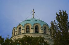 Центральний купол Миколаївського собору в Євпаторії