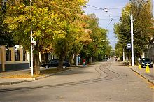 Трамвайные путя узкоколейки Евпатории