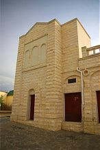 Сохранившийся восточный ризалит Купеческой синагоги Евпатории