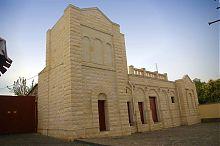 Північний центральний фасад головної Купецької синагоги Євпаторії