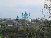 Південно-західний фасад Георгіївської церкви на Польських фільварках Кам'янець-Подільського