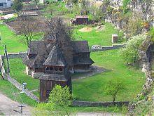 Колокольня деревянной Крестовоздвиженской церкви на Карвасарах Каменец-Подольского
