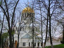 Східний фасад Олександро-Невського храму в Кам'янець-Подільському
