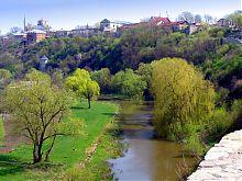 Река Смотрич с Башней на броде в Каменец-Подольском