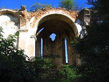 Південна гілка колишнього меджібожського Троїцького костелу