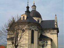 Апсида костела святого Лаврентия в Жолкве