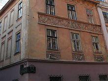 Центральный фасад львовского жилого дома по ул. Армянской №21