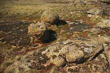 Вулканические граниты природного заповедника Каменные могилы