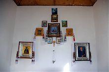 Иконостас часовни Ильи Муромца в государственном заповеднике Каменные могилы