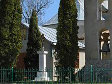 Памятный крест у Николаевской церкви в Перемышлянах