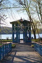 Остров влюбленных на городском пруду Тернополя
