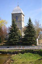 Башня-колокольня церкви Воздвижения Чесного Креста в Тернополе