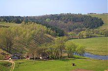 Один из меанров реки Стрыпы на границе Бучача и Подзамочка