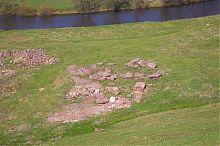 Левый берег реки Стрыпы у подножия замка в Подзамочке