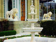 Вид на левову терасу алупкінського Воронцовського парку