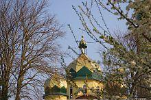 Купола собора Всех Святых УПЦ Скалата