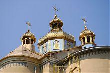 Купол Онуфріївської церкви у Гусятині