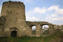 Колишній сидорівський домініканський костел (вид з замку)