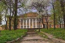 Парковый фасад Микулинецкого дворца Реев