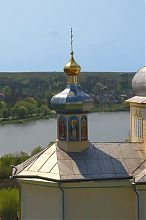 Вид на річку Горинь із Замкової гори Вишнівця