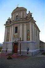 Центральный фасад Успенской церкви Збаража