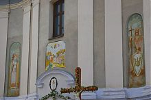 Роспись центрального фасада храма Успения Пресвятой Богородицы