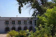 Центральний фасад запорізького Музею козацтва на Хортиці