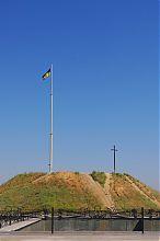 Оглядовий майданчик запорізького Музею історії Запорізького козацтва на Хортиці