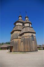 Хортицкая церковь Покрова Пресвятой Богородицы на главной площади Запорожской Сечи