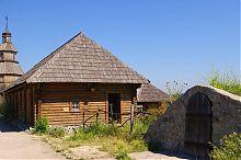 Запорожские курень и пороховой подвал на Хортице
