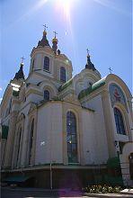 Северный фасад Свято-Покровского храма в Запорожье