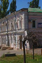 Північно-західний фасад колишнього будинку Захар'єва (перша будівля Олександрівської земської управи)