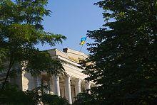 Центральный фронтон запорожского молодежного театра