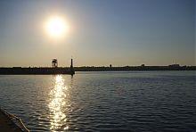 Маяк річкового порту в Запоріжжі