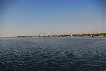 Первый грузовой район Запорожского речного порта
