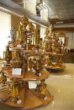 Экспозиция тульских самоваров запорожского Музей техники Мотор Сич (Богуслаева)