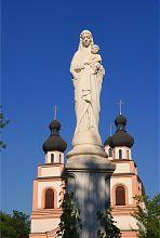 Статуя Божої Матері перед запорізьким собором Бога Отця Милосердного