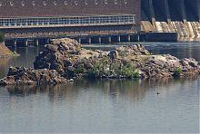Дніпровські скелі Три стовпа (Крісло Катерини, Середня, Похила)