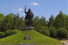 Памятник апостолу Андрею Первозванному  запорожского парка им. Шевченко