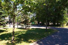 Аллея Приморского сквера в Бердянске