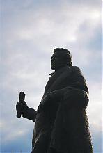 Обличча пам'ятника О.С. Пушкіну в Бердянську