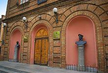 Погруддя Шмідта і Хавкіна у Бердянського педагогічного університету