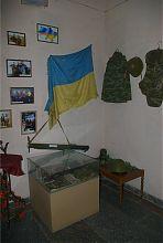Экспозиция памяти украинско-российской войны на Донбассе в музее Гуляйполя