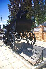 Пулемет Максим на тачанке-памятнике в Гуляйполе