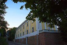 Юго-западный фасад Львовской национальной библиотеки им. Стефаника (Арсенал Сенявских)